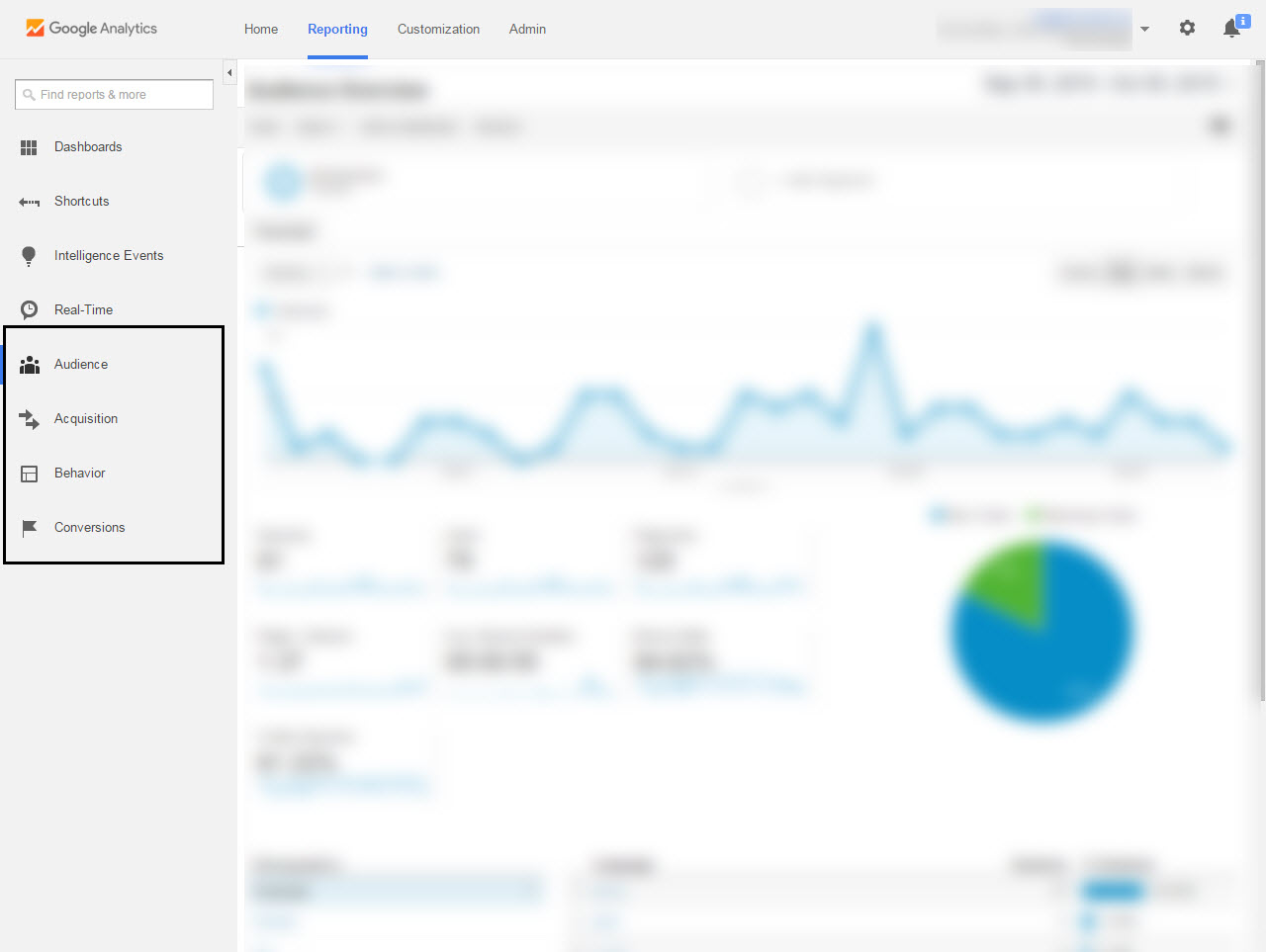 Google Analytics Sections
